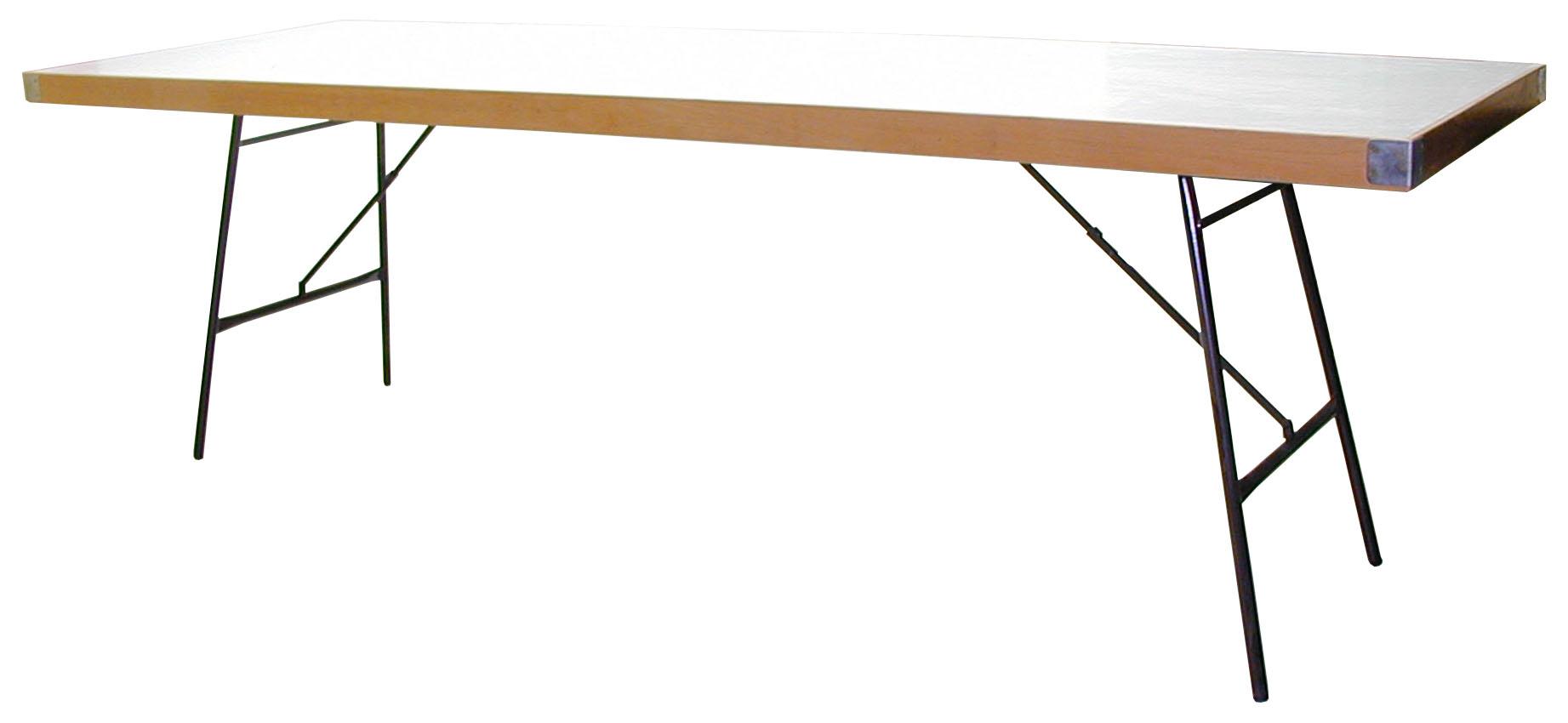 Mesa plegable madera patas abatibles banquetes 200x80 for Patas de mesa plegables