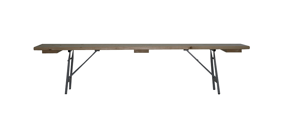 banco plegable madera ligero patas metal seguro fuerte